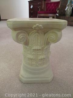 White Plaster Greek Column