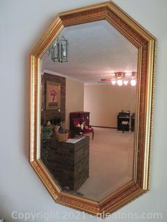 Carolina Mirror Company Gold Wall Mirror- Octagonal