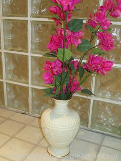 Lovely Lenox Vase and Silk Flowers