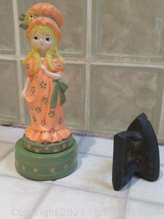 Vintage Holly Hobbie Ceramic and Vintage Iron