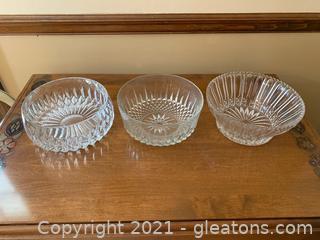 Cut Glass Bowls (Lot of 3)