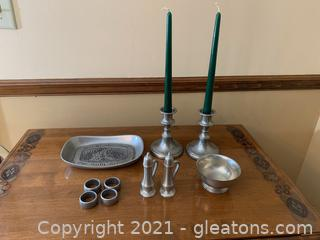 Pewter Pieces Lot