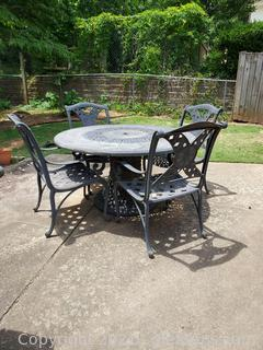 Oversized Cast Iron Patio Set-Table and 4 Chairs
