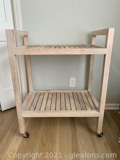Attractive 2 Shelf Rolling Cart