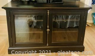 Old World Glass Door Console