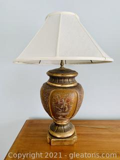 Delightful Urn Style Floral Table Lamp