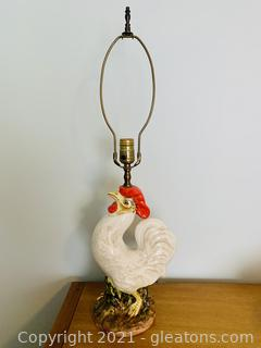 Matchless Rooster Hand Painted Lamp
