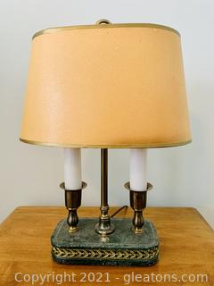 Traditional Double Candlestick Desk Lamp