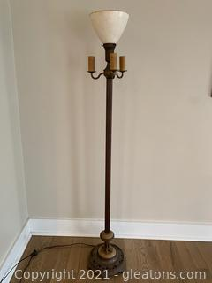 Torchiere with 3 Candle Light Floor Lamp