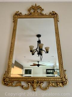 Elegant Gold Painted Wall Mirror
