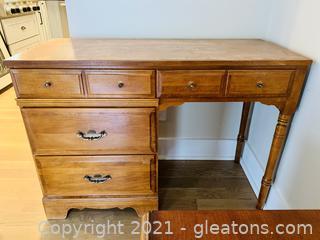 Mid Century Wooden 4 Drawer Desk