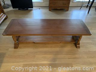 Tressel Style Wooden Coffee Table