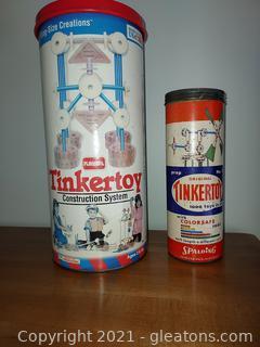 2 Sets of Vintage Tinker Toys