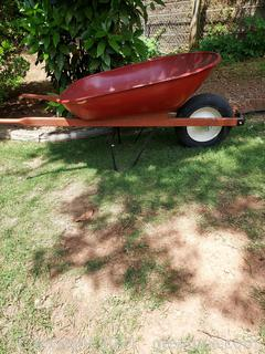 Red Ames Mustang Steel Wheelbarrow