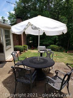 Retro White Falzetti Patio Umbrella