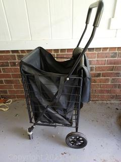Helpful Rolling Cart with Canvas Bag Insert