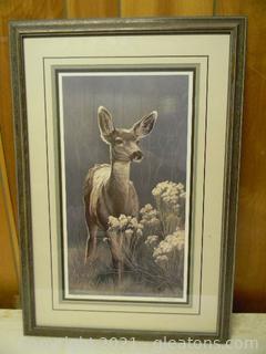 Beautifully Framed Print of a Doe