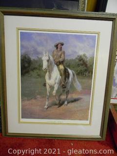 Framed Print of Buffalo Bill (William F. Cody) by Rosa Bonheur Print