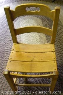 Cute Ladder Back Saddle Seat Chair
