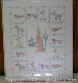 """1988 Signed """"Southwest Fiesta"""" Lithograph by Shawn Mory McMillion"""