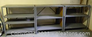 Metal Shelving Units (3)