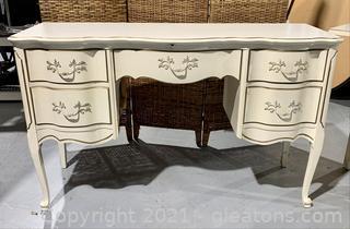 Charming 5 Drawer Fold Trimmed Desk