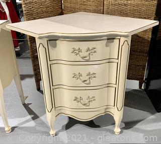 Charming Corner 3 Drawer Accent Table/Chest of Drawers