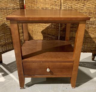 Warm Shaker One Drawer End/Side Table/Night Stand