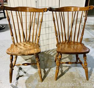 2 Fan Back Windsor Chairs