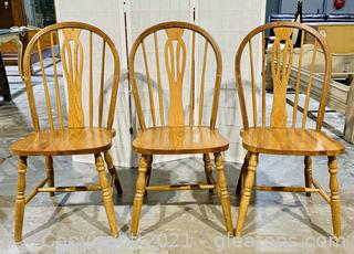 3 Fiddle Back Windsor Chairs