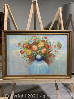 Still Life Floral Canvas Oil Painting
