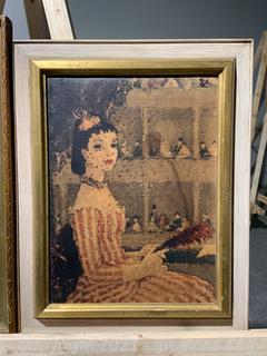 "Framed ""Parisian Girl"""