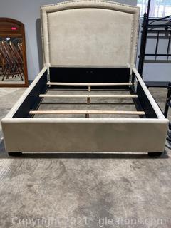 Loden Beige Upholstered Bed