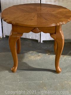 Country French Oval Accent End Table