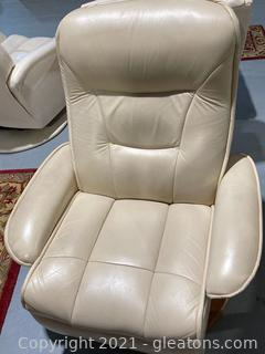 Leather Recliner/Swivel Chair