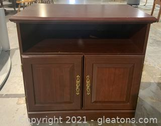 Small Entertainment Stand in a Cherry Finish