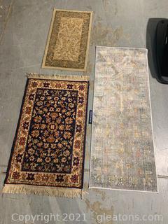 Three Area Rugs