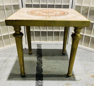 Polished Tile Top Plant Stand