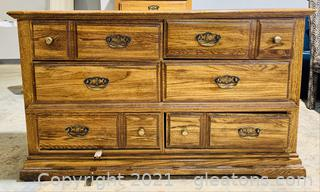 Wood Grain 6 Drawer Dresser