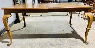 Traditional Style Wood Inlay Dining Table