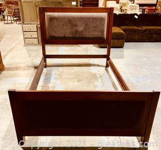Velvet Panel Queen Bed Frame