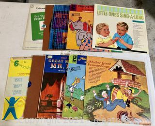 Classic Lot of Children's Record From The Early 60's Lot of 10