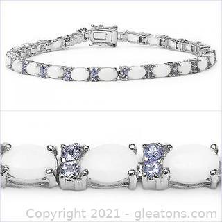 "Opal and Tanzanite 8"" Bracelet"