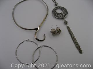 Silver Tone Costume Jewelry