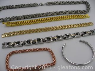Assortment of Stainless Steel Jewelry