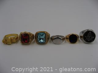 Assortment of Men's Costume Rings
