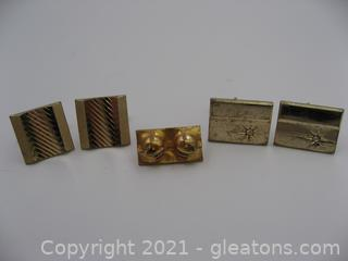 Cufflinks and Tie Pin Lot
