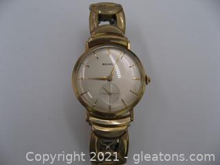 Benrus 14kt Gold Vintage Watch