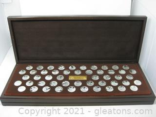 50pc Sterling Silver Coins Denoting the American Revolution