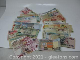 Paper Money From Various Foreign Countries (A)